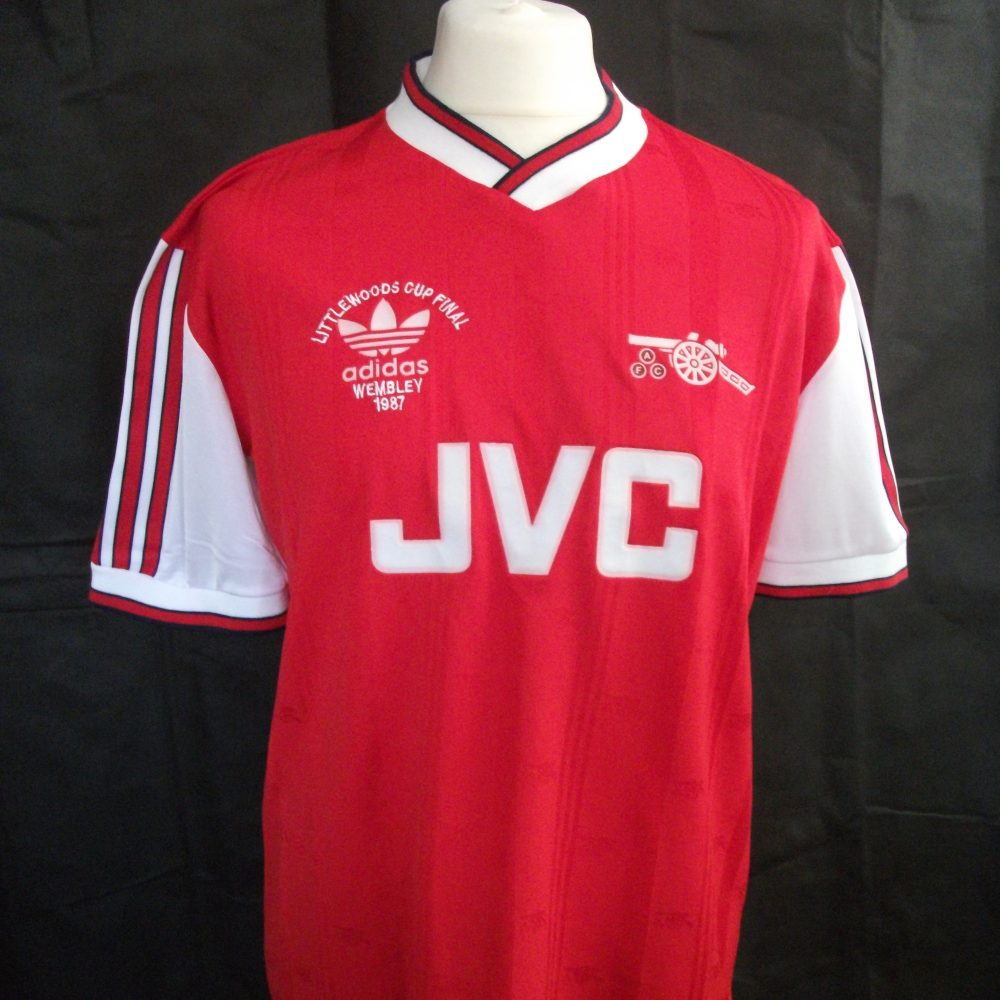 ff90f4ea3 Vintage Adidas Arsenal 1987 football shirt1