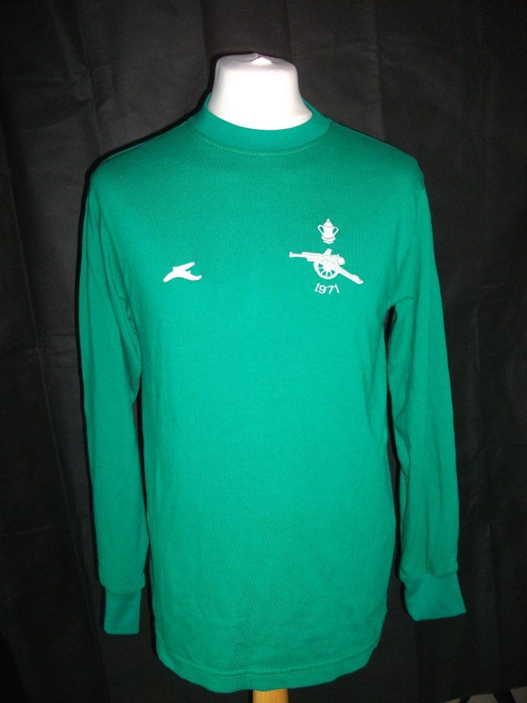 Replica Arsenal 1971 FA Cup Final Goalkeeper shirt1