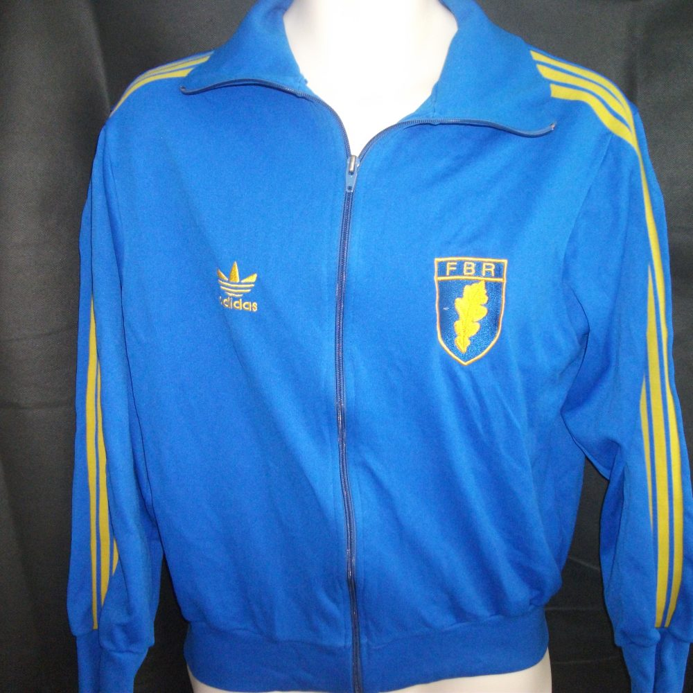 Vintage Adidas Romania Rugby Track Jacket On The Ball Retro